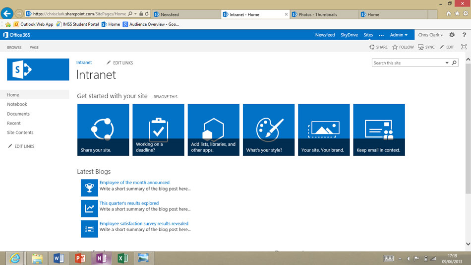 Microsoft Sharepoint Intranet