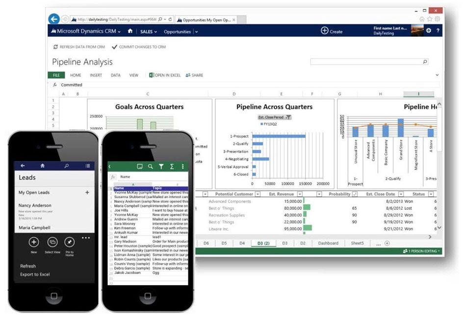 Dynamics CRM integración Excel